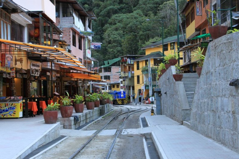 Aguas Calientes, también llamada Machu Picchu pueblo